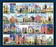 Mouse mat of all 31 Cambridge colleges
