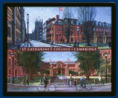 Mouse mat of St Catharine's College, Cambridge