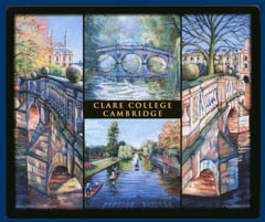 Mouse mat of Clare College, Cambridge