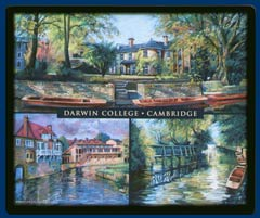 Mouse mat of Darwin College, Cambridge