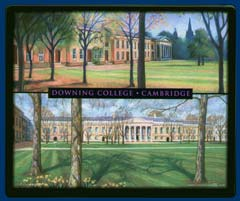Mouse mat of Downing College, Cambridge