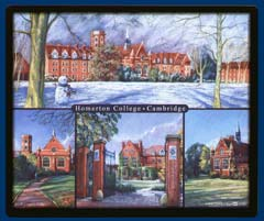 Mouse mat of Homerton College, Cambridge