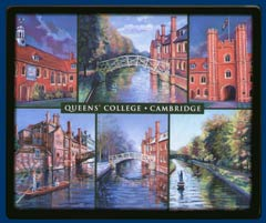 Mouse mat of Queens' College, Cambridge