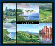 Mouse mat of Sussex
