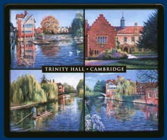Mouse mat of Trinity Hall, Cambridge
