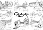 Cambridge Backs line drawings postcard